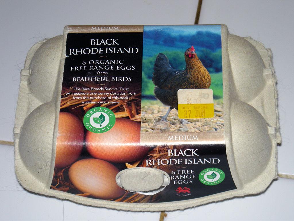 Lucy lookalike on an eggbox